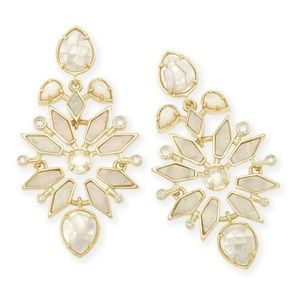 Kendra Scott Aurilla Earrings Ivory and Gold